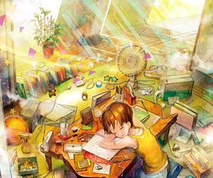 anime, manga, and sleep image
