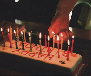 birthday, candle, and cake image