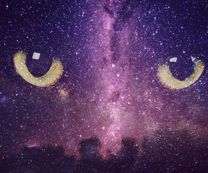 cat, galaxy, and eyes image