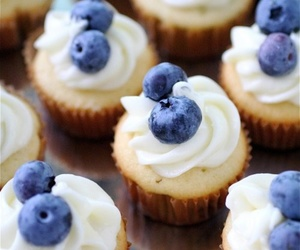 cupcake, blueberry, and food image