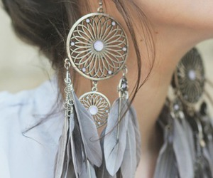 earrings, hair, and fashion image