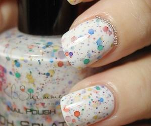 nails, nail polish, and white image
