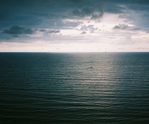 ocean, blue, and sky image