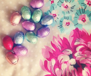 chocolate, colourful, and eggs image