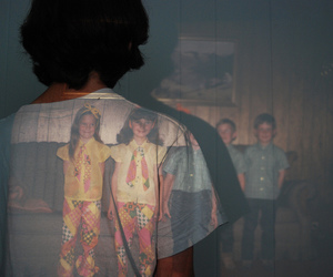 boy, photo, and projector image