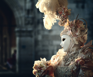 mask, venice, and carnival image