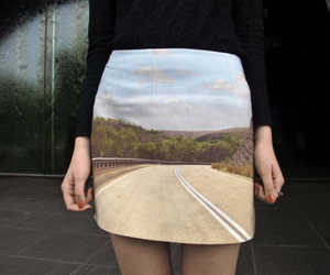 skirt, fashion, and road image