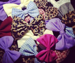 bow, pink, and purple image