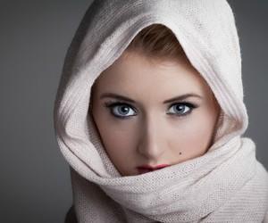 eyes, girl, and kerchief image