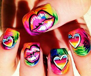 nails, kiss, and lips image