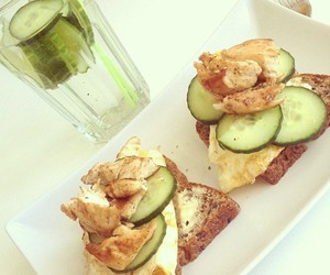 Chicken, healthy, and cucumber image