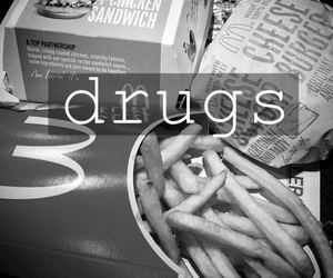 drugs, food, and McDonalds image