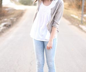 clothes, girl, and hair image