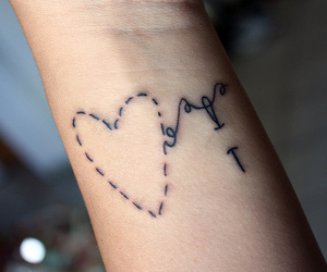 heart, sew, and tatoo image