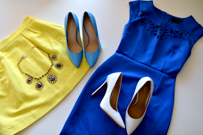 blue, blue dress, and dress image