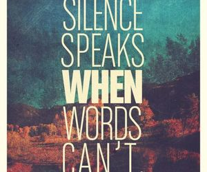 silence, quotes, and words image