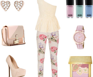 easter, floral, and heels image