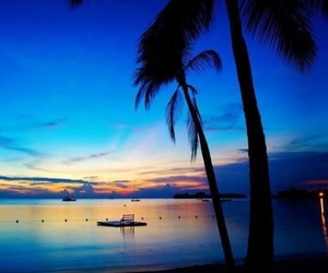 beach, sunset, and jamaica image