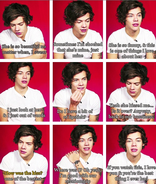 1D Fan Fiction / Imagine Harry's saying these things about