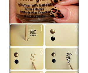 nails, leopard, and tutorial image