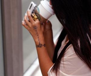 starbucks, girl, and tattoo image