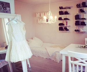 dress, bedroom, and room image
