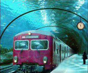 train, underwater, and venice image