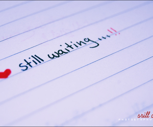 waiting, heart, and text image