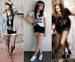 girl, rock and roll, and looks *-* image
