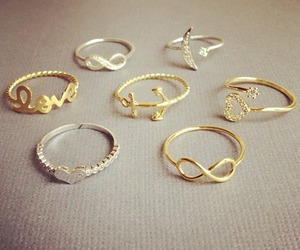 rings, heart, and gold image