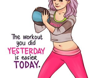 drawing, inspirational, and workout image