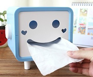 cute, box, and tissue image