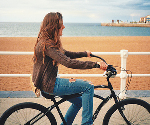 girl, bike, and fashion image