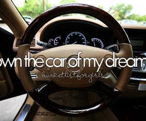 car, Dream, and bucket list image