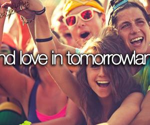Tomorrowland, love, and fun image