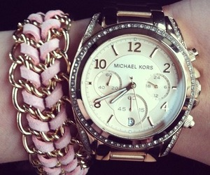 watch, Michael Kors, and pink image