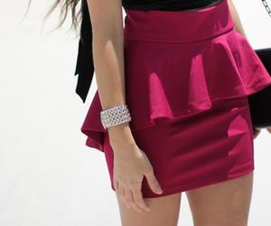 fashion, skirt, and bracelet image