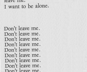 alone, quote, and leave image