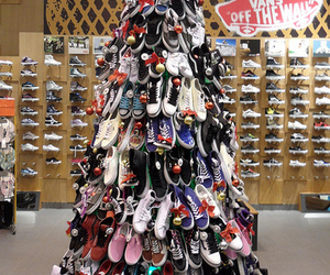 vans, christmas, and shoes image