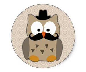 drawing, mustache, and owl image