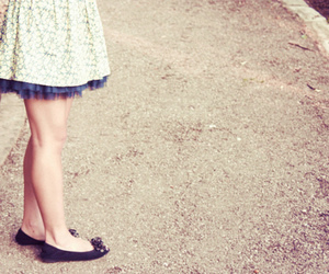 dress, floral, and photography image
