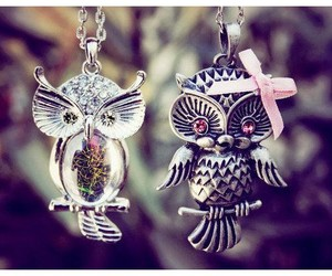 girly, necklace, and owl image