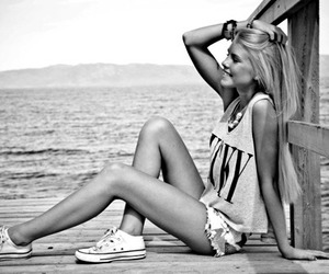 black and white, photography, and style image