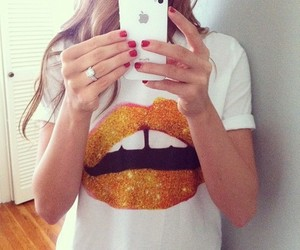 fashion, iphone, and lips image