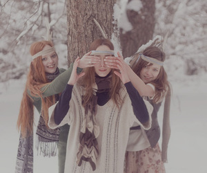 winter and girls image