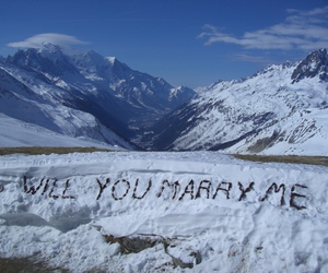 marry, romantic, and snow image