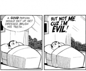 evil, bed, and cartoon image