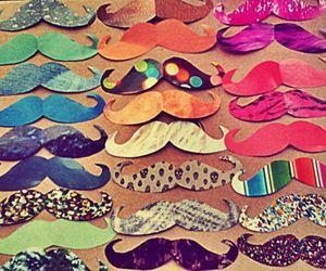 mustache, moustache, and colors image