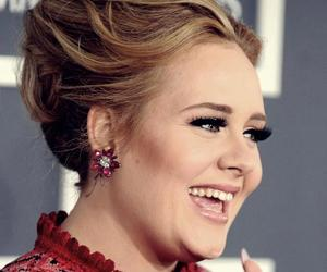 Adele, blonde, and laugh image