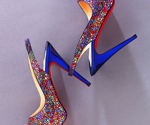 christian louboutin, heels, and high heels image